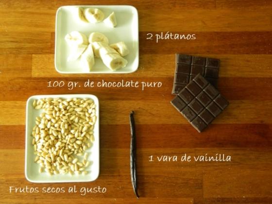 platanos-cortados-chocolate-vainilla-pinones-brownie